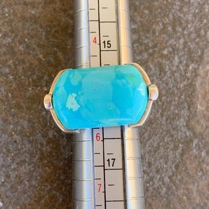 Statement Turquoise & Sterling Silver Ring